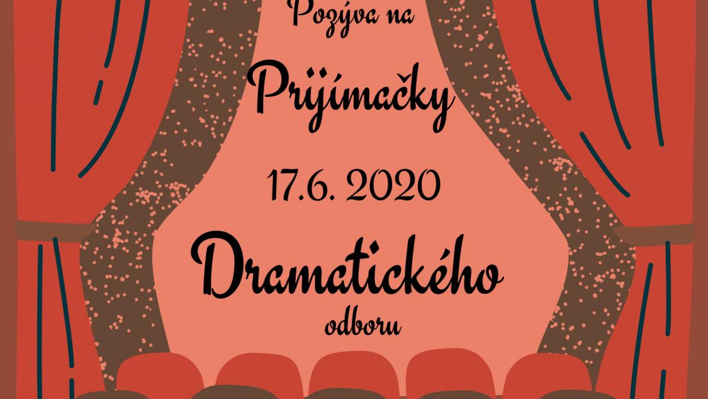 Prijímačky dramatický odbor 2020